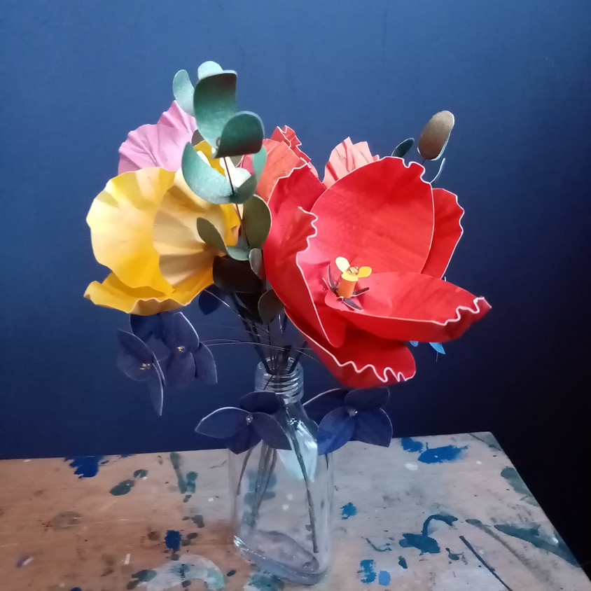 Paper Bouquet Making with KAPERKATE