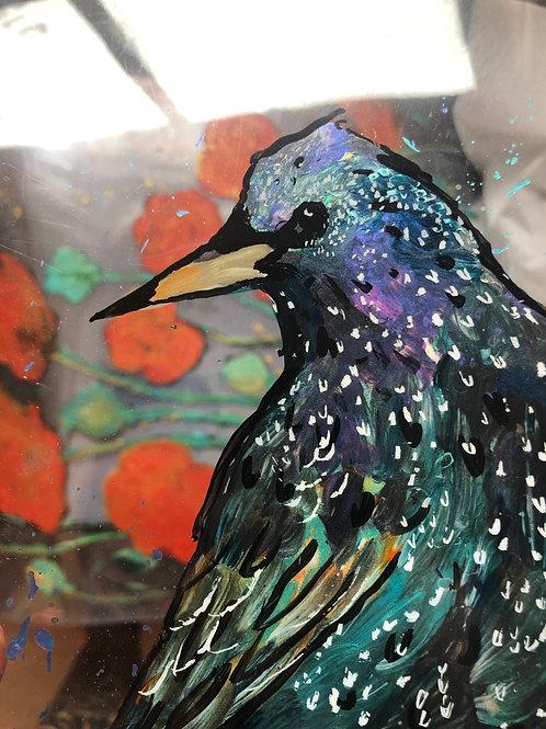 Starling Window Art