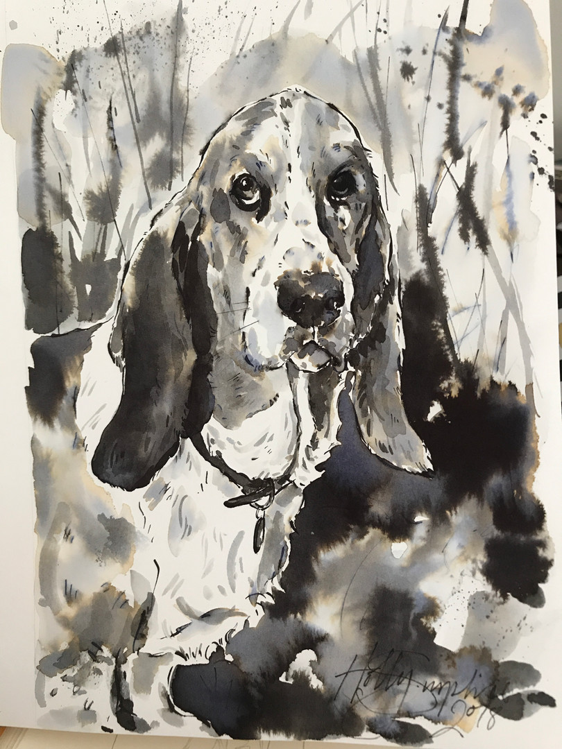 Beagle in ink