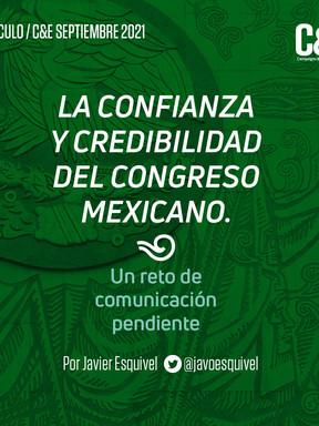 La confianza y credibilidad del Congreso Mexicano. Un reto de comunicación pendiente