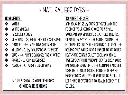 Natural Egg Dye Instructions