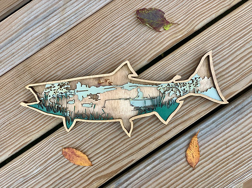Layered Fish Wall Art