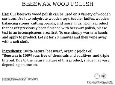 Beeswax Wood Polish