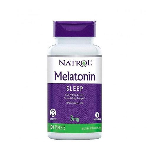 Natrol | Liberação Prolongada | Melatonina | 3 mg | 100 Tbs - PROMOÇÃO