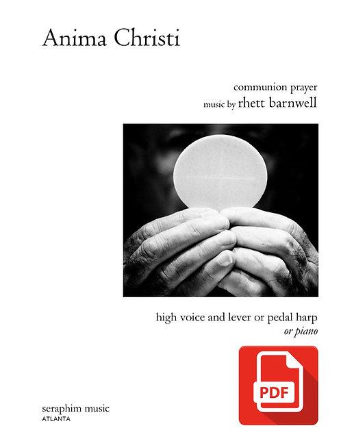 Anima Christi-High Voice and Harp PDF