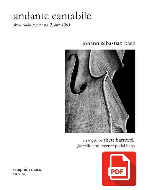 Andante Cantabile-Cello and Harp PDF Download