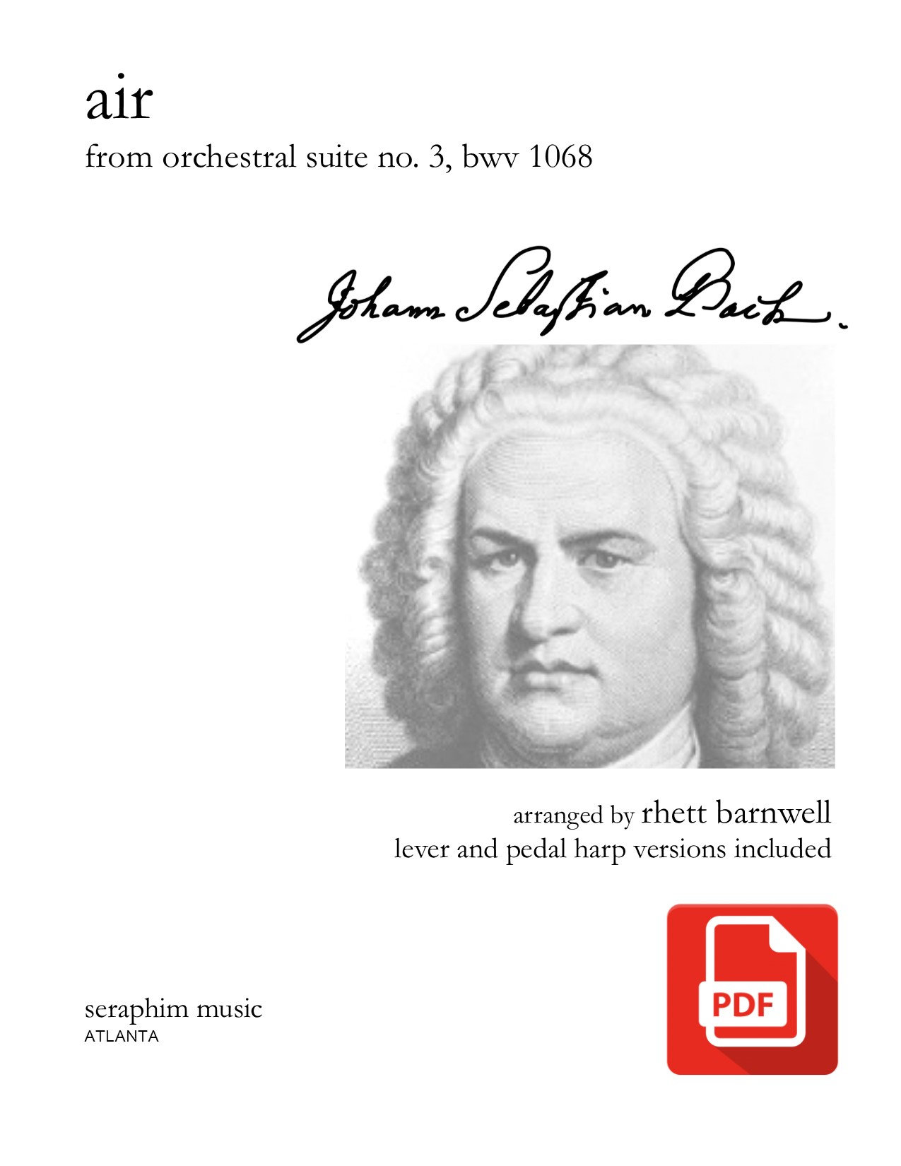 Air, from Suite No  3 - Bach (PDF Download)