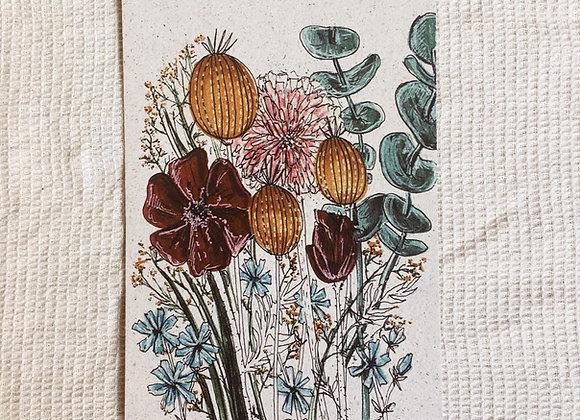 Postkarte 'Blumenstrauß'