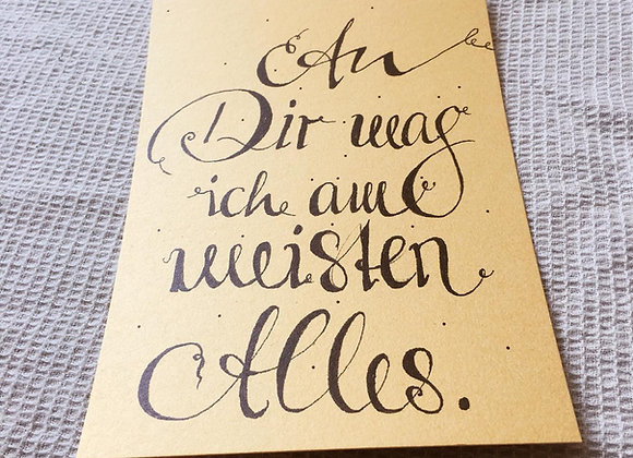 Postkarte 'Alles'
