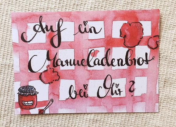 Postkarte 'Marmeladenbrot'