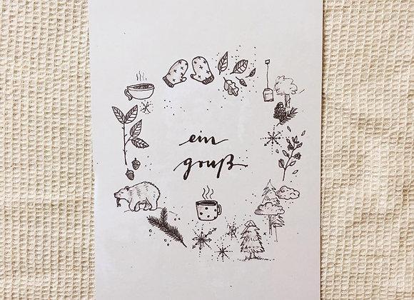 Postkarte 'Wintergruß'