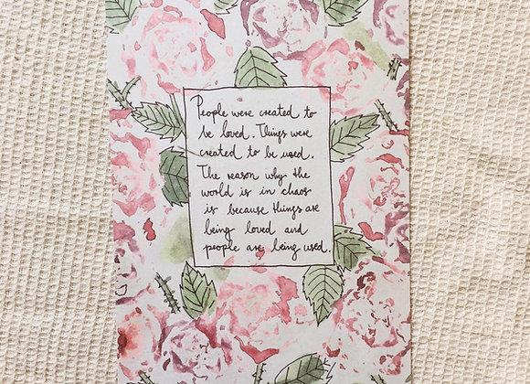Postkarte 'Rosen'