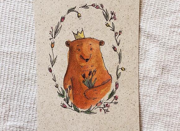 Postkarte 'Grußbär'