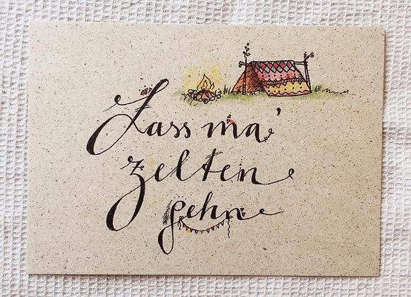 Postkarte 'Zelten'