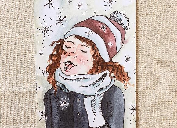 Postkarte 'Der erste Schnee'