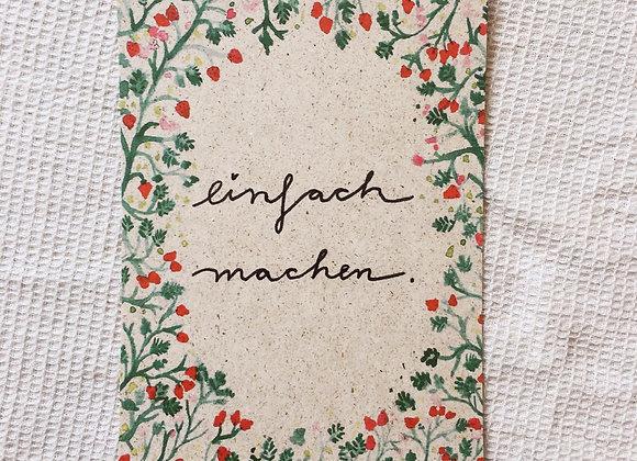 Postkarte 'Einfach machen'