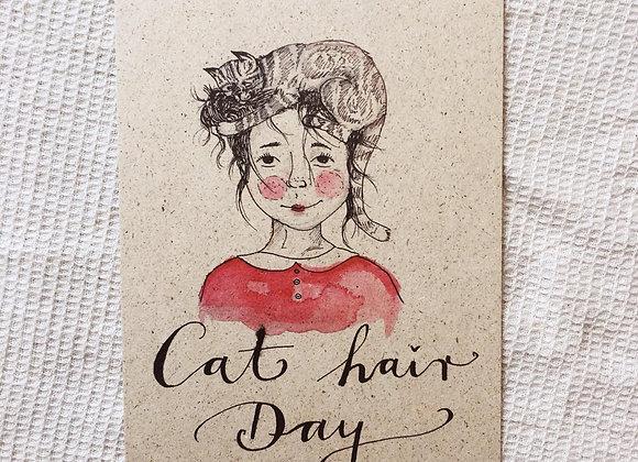 Postkarte 'Cat Hair Day'