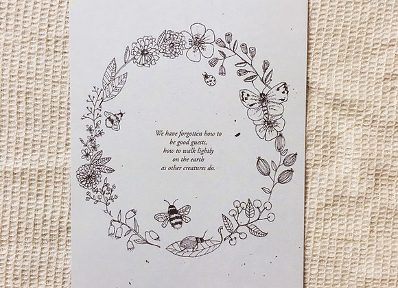 Postkarte 'Blumenkranz'