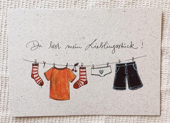 Postkarte 'Lieblingsstück'