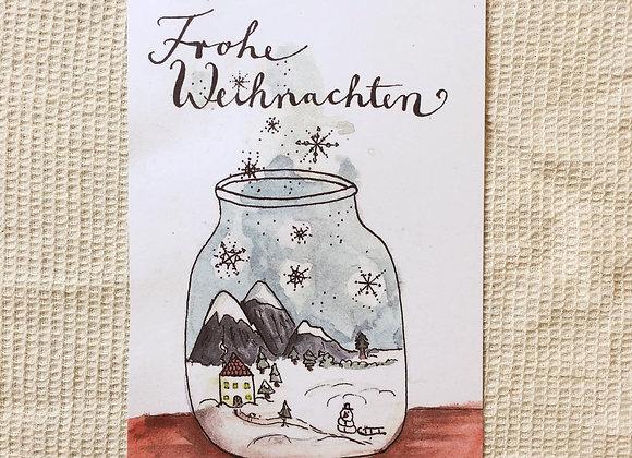 Postkarte 'Weihnachten im Glas'