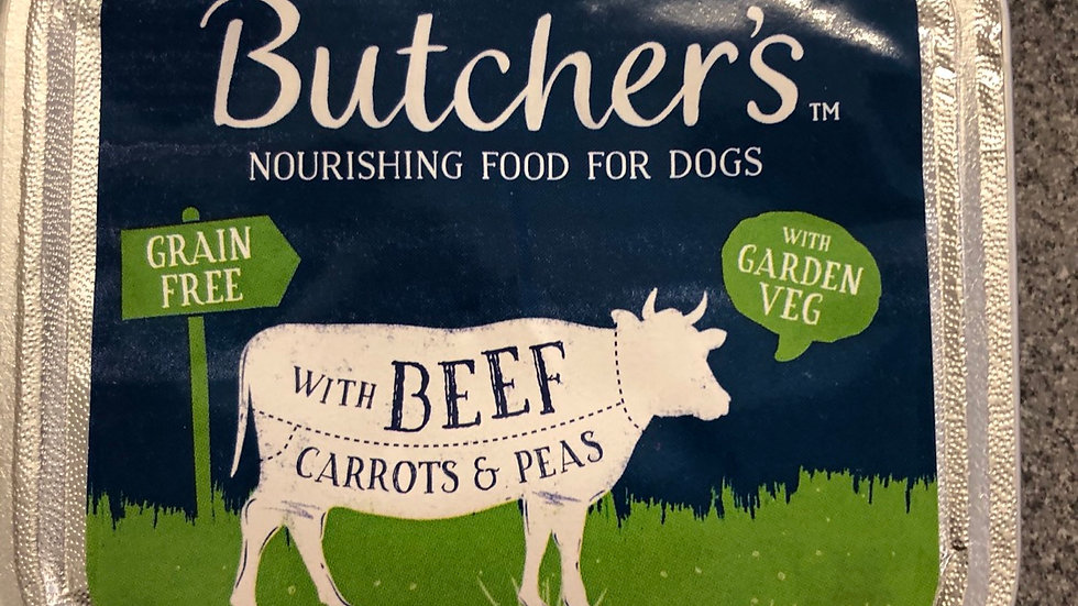 Butchers dog trays beef