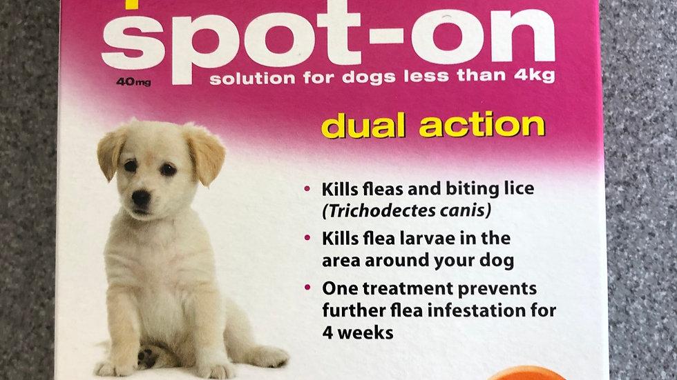Johnson's flea spot on for puppies