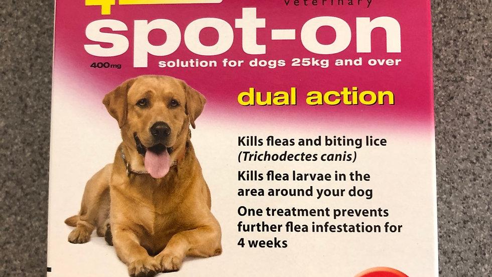 Johnson's flea spot on large dogs