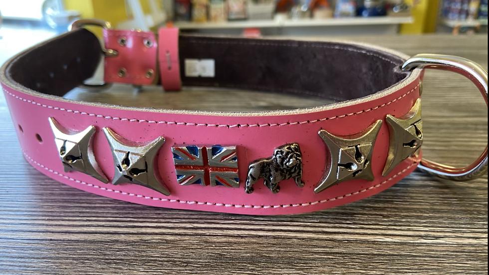 British bulldog collar with flag