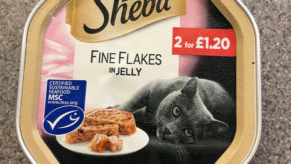 Sheba Fine flakes in jelly