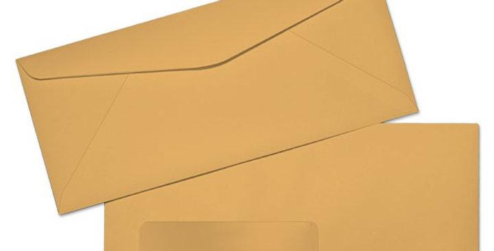 #10 Brown Window Envelopes