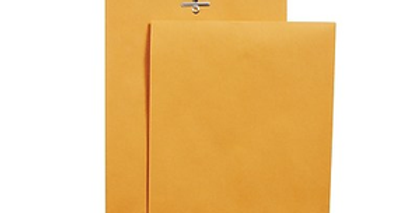 "12"" x 15 1/2"" Brown envelops"
