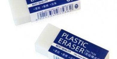 Deli white plastic eraser