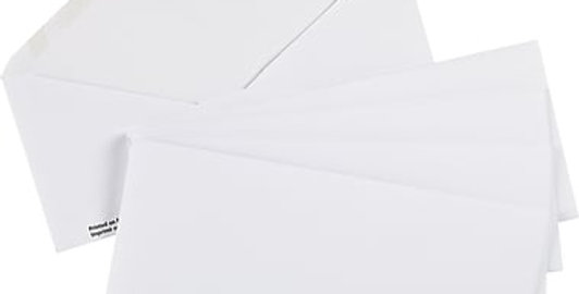 #10 White Envelopes