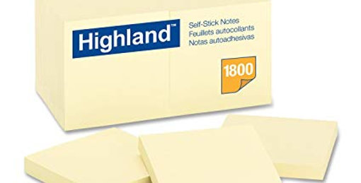 Highland Self Stick Notes