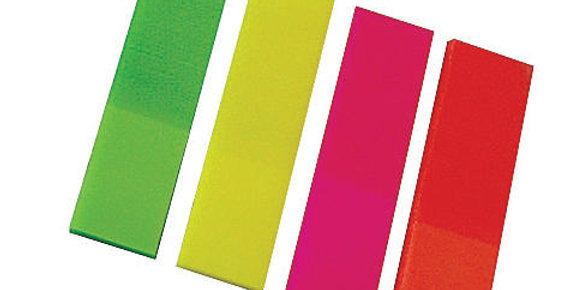Neon Post-it Strips