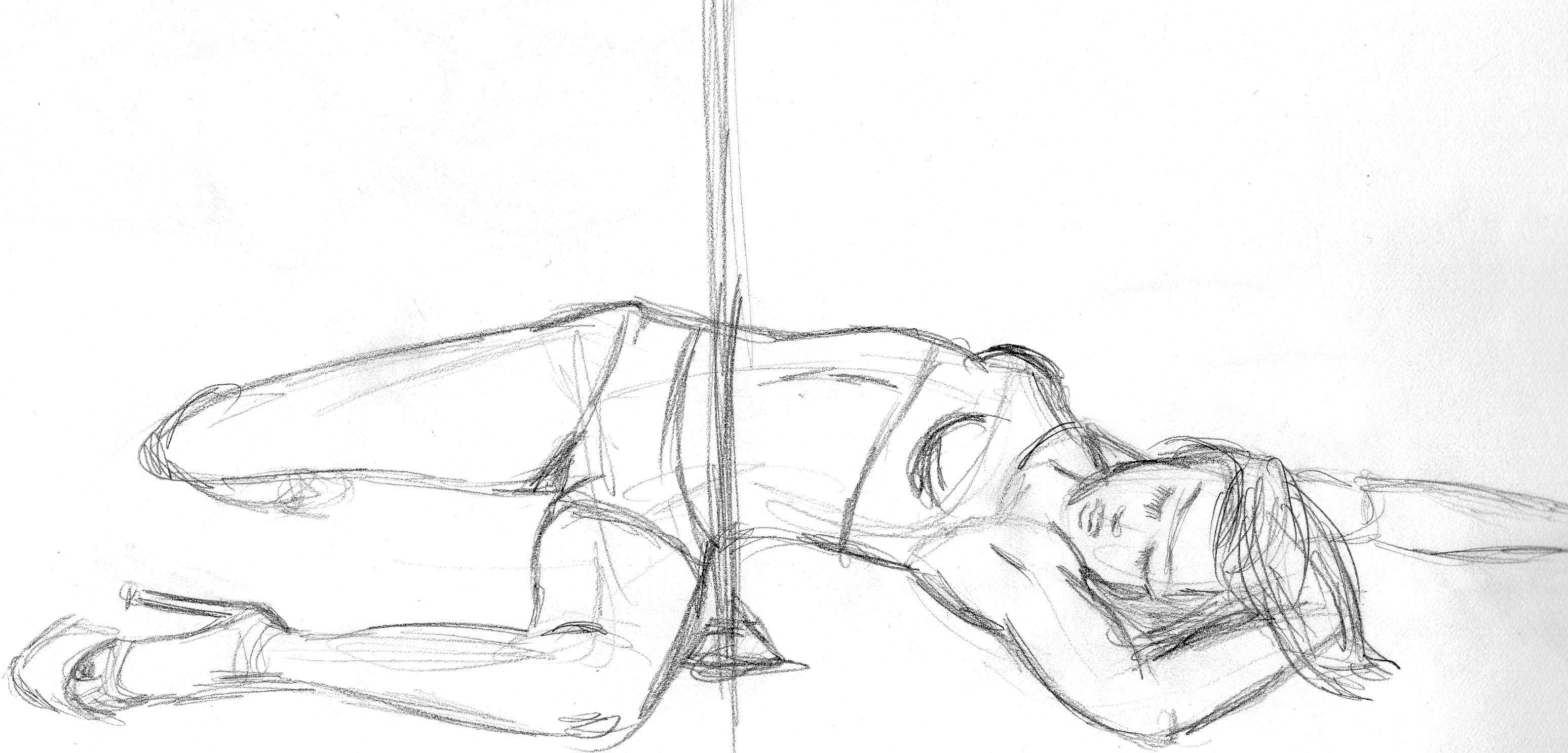 Pole Dancer - Pencil Sketch