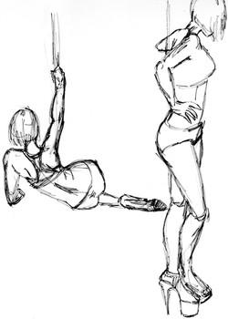 Pole Dancing - Marker Sketch
