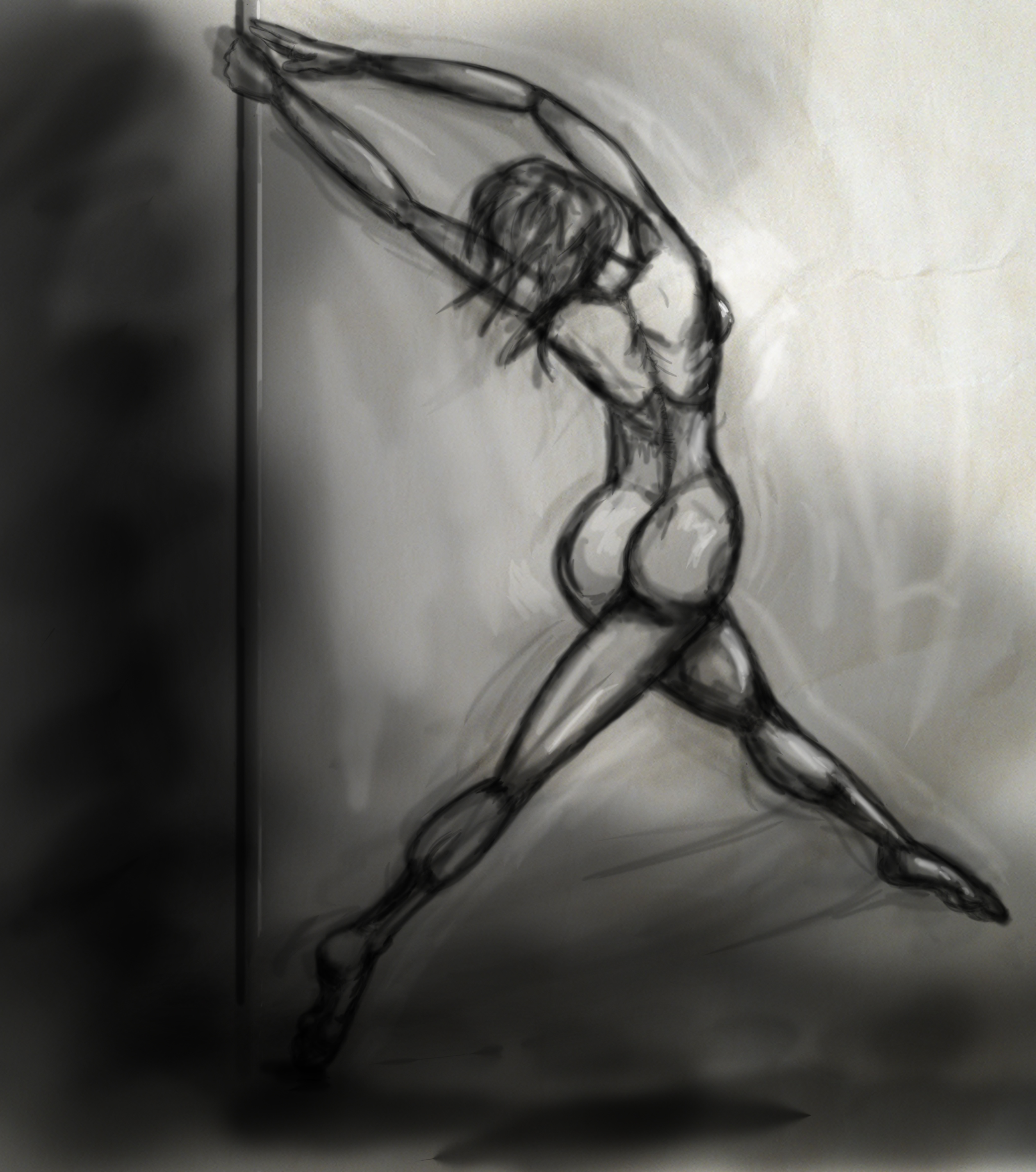 Digital Sketch of a Dancer