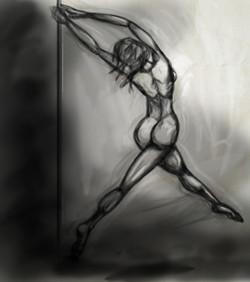 Digital Sketch of a Dancer