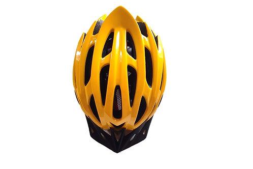 Yellow helmet top view
