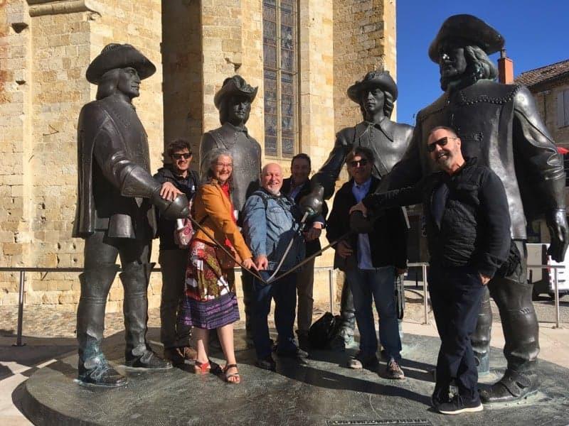Les 5 journalistes Espagnols en visite à Condom