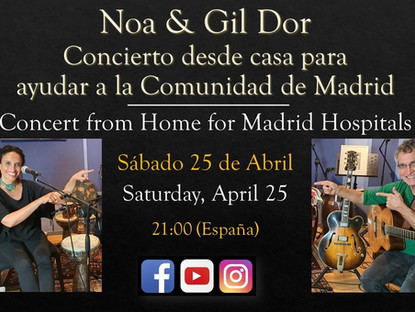 Noa & Gil Dor Home Concert for Madrid Health Care Network