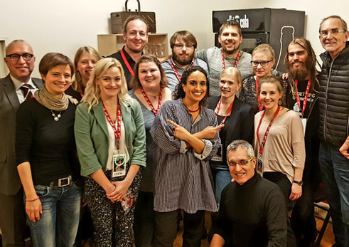 Noa & Gil Dor with Wolfgang and people in Oberhausen