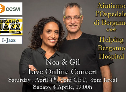 Noa and Gil Dor home concert for Italy