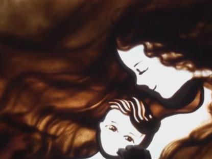 """""""Beautiful that Way"""" on a sand art clip by Ilana Yahav"""