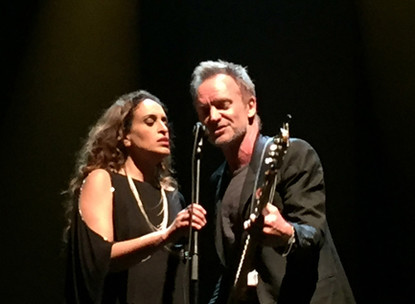 Noa and Sting – Fields of Gold – Olympia – Clip & Photo Gallery