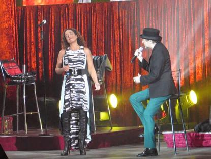 Noa and Sabina at Luna Park, Buenos Aires