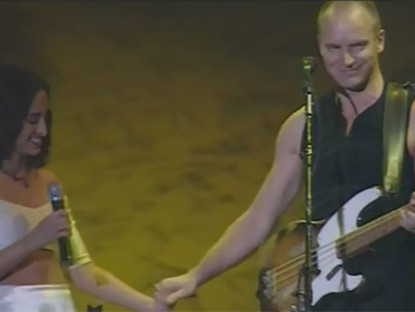 Noa and Sting on Stage – The Fields of Gold
