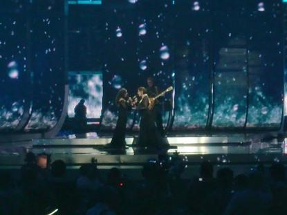 Noa and Mira Awad at the Eurovision 2009