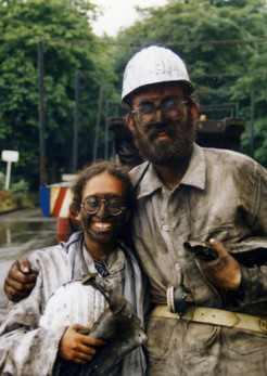 Young Noa and Wolfgang in Oberhausen mines